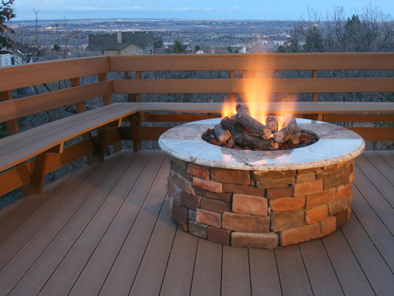 DIY Outdoor Propane Fire Pit | FIREPLACE DESIGN IDEAS on Diy Outdoor Fire  id=56392