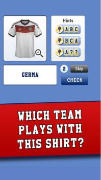 World Cup Shirts Quiz App
