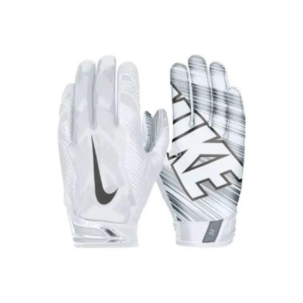 all white nike football gloves
