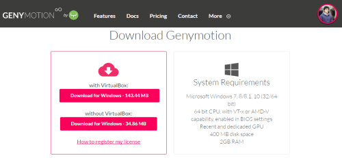 GenyMotion Android Emulator - Freemium Version Download - Running Android Apps On PC