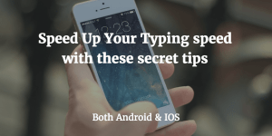 speed up typing