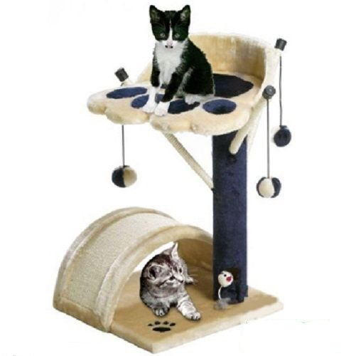 BUNNY BUSINESS Cat Bed and Scratching Post with Toys Scratch Posts Tree
