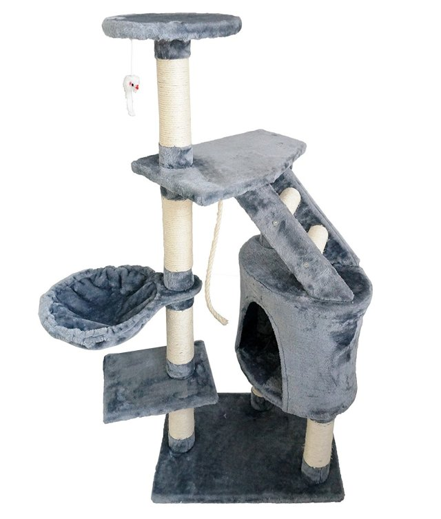 Lolipet multi-level cat scratch post