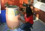 decorative rain barrel ideas