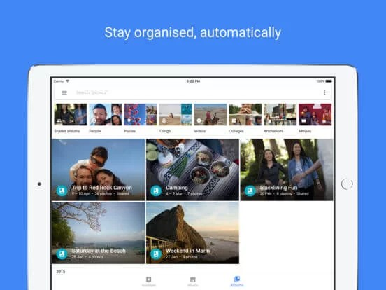 Download Google photos for iPad