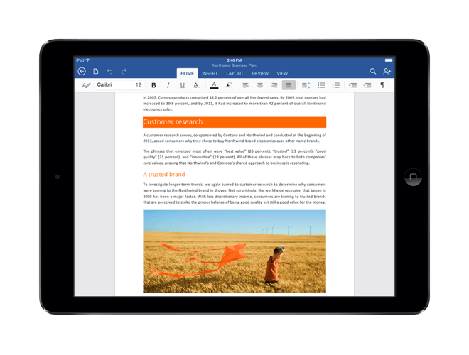 Download Office 365 for iPad