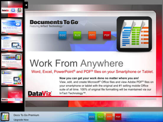Download Document To Go for iPad