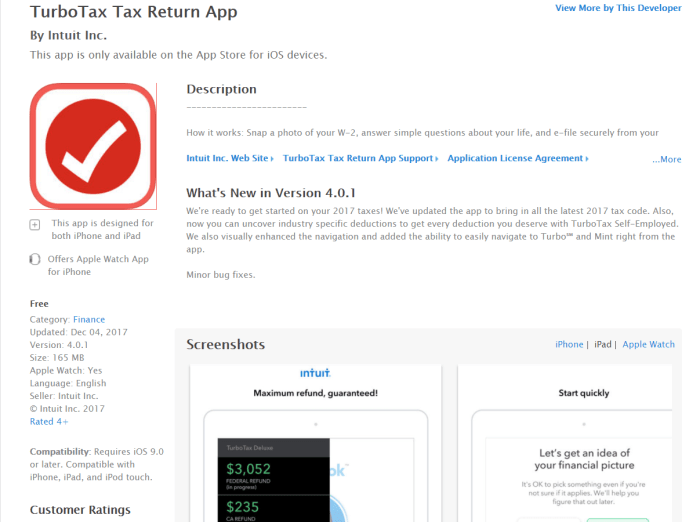 Download TurboTax for iPad