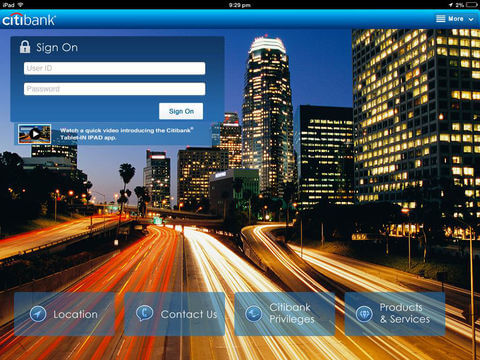 Download Citibank App for iPad