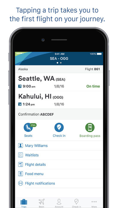 Alaska Airlines App for iPad Free Download | iPad Travel