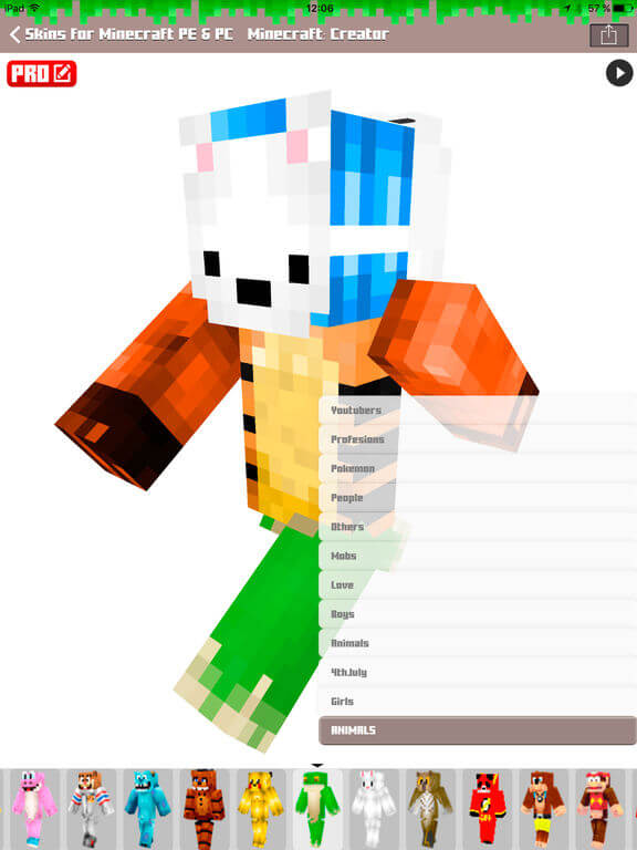 Download Minecraft Skins for iPad