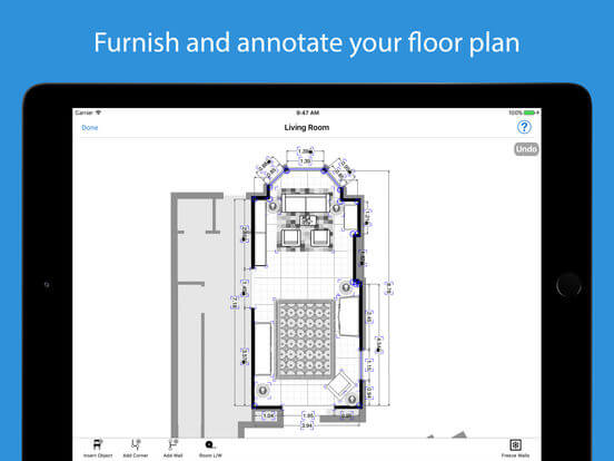 Download Floor Planner App for iPad