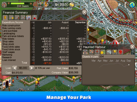 Download Roller Coaster Tycoon for iPad