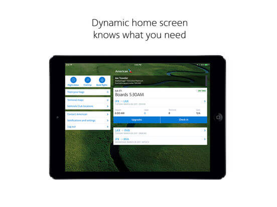 Download American Airlines App for iPad