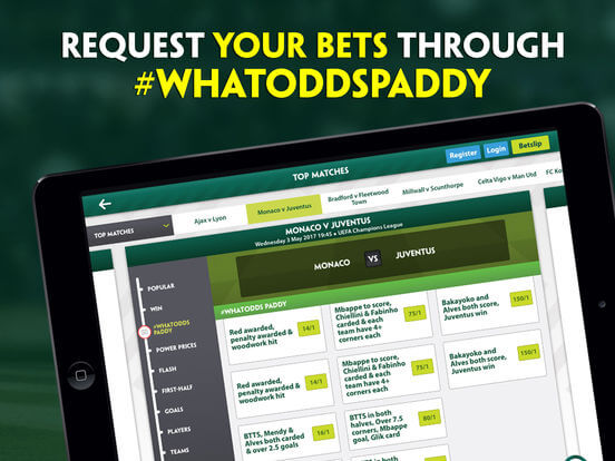 Download Paddy Power App for iPad