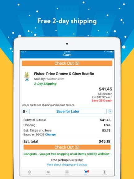 Download Walmart App for iPad