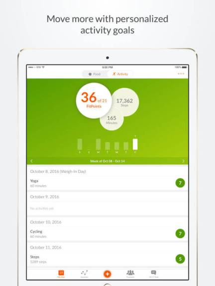 Download Weight Watchers App for iPad