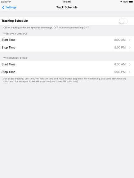 Download Tracker App for iPad
