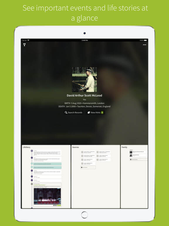 Download Ancestry App for iPad