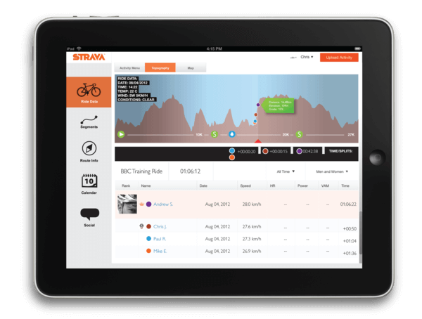 Download Strava for iPad