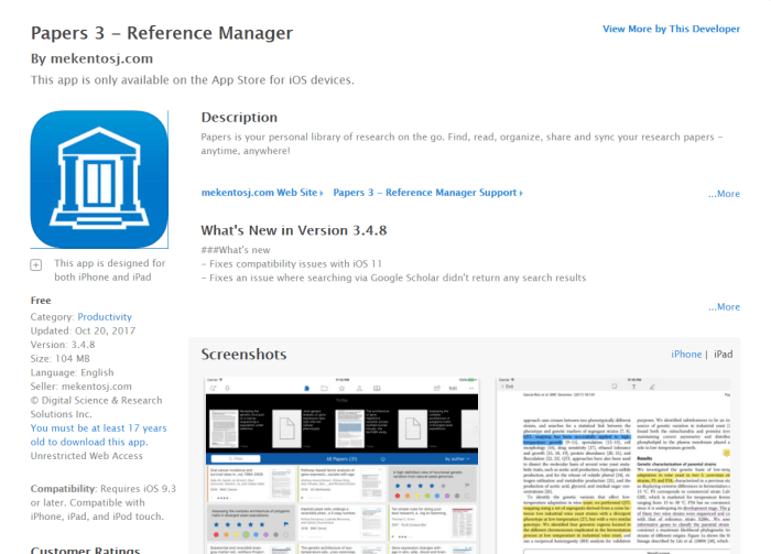 Download Papers for iPad