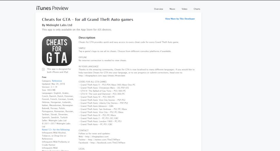 Download GTA San Andreas Cheats for iPad - Best Free Ipad Apps