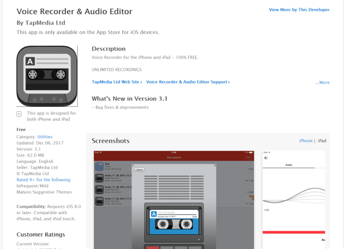 Download Voice Recorder for iPad