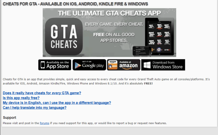 Download GTA San Andreas Cheats for iPad