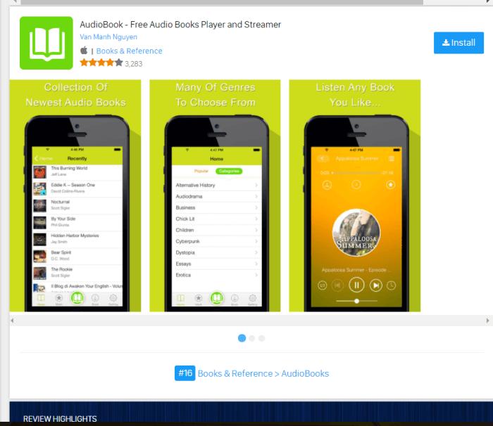 Audio Books for iPad