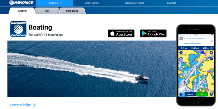 Download Navionics for iPad