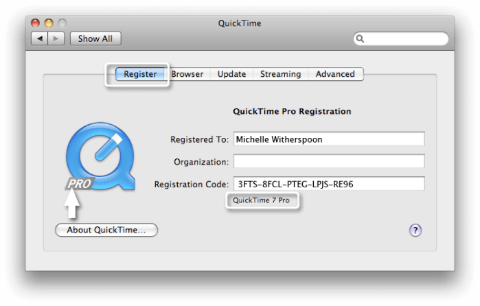Download QuickTime for Mac