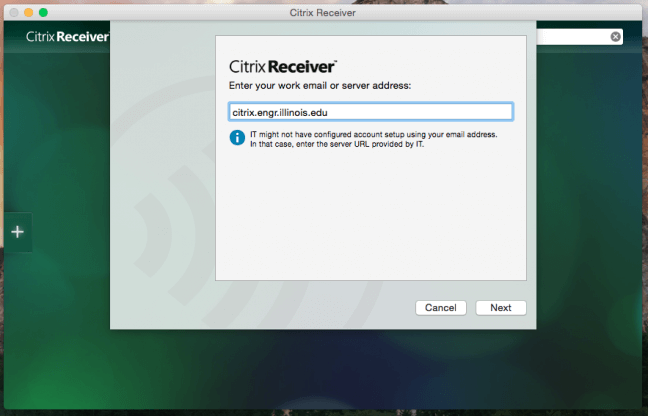 Download Citrix Receiver for Mac