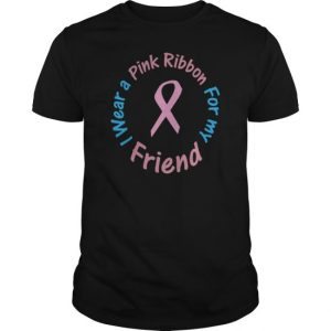 Navy Breast Cancer Pink Ribbon For Friend T-Shirts