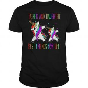 Father And Daughter Best Friends Dad Unicorn Shirt