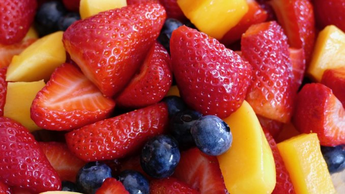 Healthy fruits snack