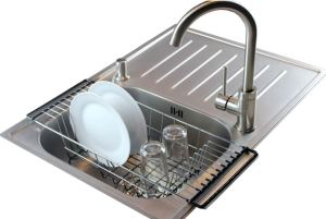 over the sink kitchen dish drainer