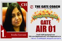 GATE 2016 Topper AIR 1