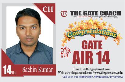 GATE 2016 Topper AIR 14