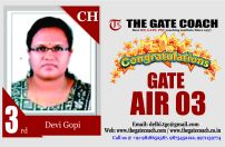 GATE 2016 Topper AIR 3