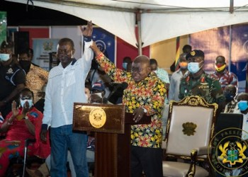 President Akufo-Addo Commissions 3G Voice/Data site at Atwereboana