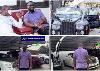 Sarkodie Given A Tour At Millionaire Osei Kwame Despite's Garage At East Legon