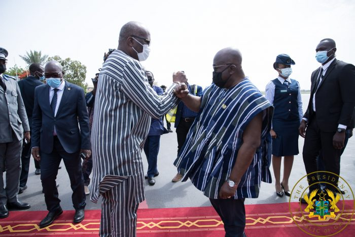President Akufo-Addo Visits Burkina Faso President After Deadly Terror Attack