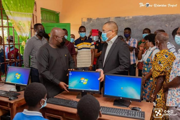 MP For New Juaben South Donate Computers To Densuano Basic School