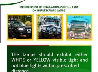 Road Safety Authority To Remove Unprescribed Lamps Used By Vehicles