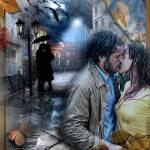 Осенний поцелуй под дождем - Осень картинки - Анимационные ...