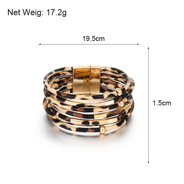 Leopard Leather Bracelet – Leather Leopard Wrap Bracelet – Trendy Leopard Leather Bracelets – Leather Leopard Wrap Bracelets – Best Gifts Gallery
