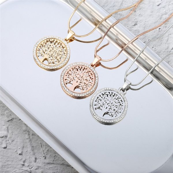 Crystal Tree of Life Necklace – Tree of Life Crystal Necklace - Gold Crystal Tree of Life Necklace – Gold Tree of Life Crystal Necklace - Best Gifts Gallery