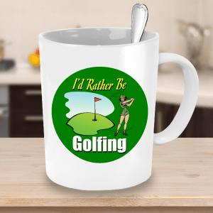 Golf Mug – Rather Be Golfing Mug - Golfer Mug – Funny Golf Mug