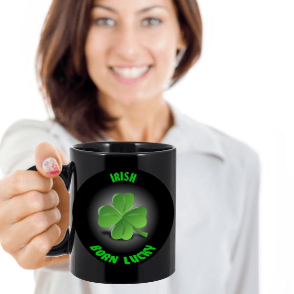 Born Lucky Irish Mug - Irish Mug - Irish Coffee Mug - Lucky Irish Mug