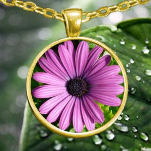 Wildflower Necklace - Flower Necklace – Wildflower Pendant - Flower Pendant - Wildflower Jewelry - Flower Jewelry - Purple Flower Necklace